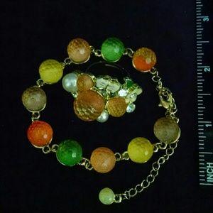 Beautiful 2 piece ring bracelet set